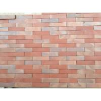 Changeable Colors Flat Thin Split Face Brick For Exterior Wall Low Water Absorption