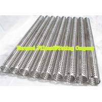 Cheap Custom Round Perforated Stainless Steel Pipe With Longitudinal Seam , Filter Support for sale