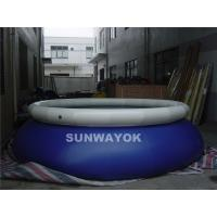Cheap Swiming Blue Inflatable Round Pools White Cover Water Proof  Pvc Tarpaulin CE for sale