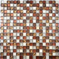 China Popular colored 8mm thickness home decorative crystal marble glass mosaic on sale