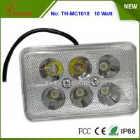 Cheap 18W Rectangle LED Work Light, LED Headlight for Motorbike, Replacing halogen lamp or HID for sale