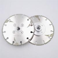 Cheap 125mm Electroplated Reinforced Diamond Cutting Blade M14 Thread 5 Inch With Protection for sale