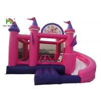 Cheap 6m Inflatable Jumping Castle Large Multiplay Bouncy With Curve Slide for sale
