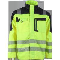 Cheap Green reflective safety jackets high visibility clothing with stand collar for sale