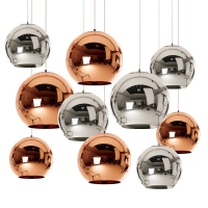 China 240V Gold Rose / Golden Chrome Color E27 Mirror Glass Pendant Light on sale