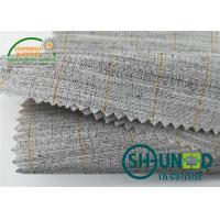Cheap Heavyweight Garment Stretched Cotton Canvas Fabric / Horsehair Interlining For Suit for sale