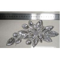 Cheap Leaf Fashional Handmade Bead Collar Trims made in Silver Beads for sale
