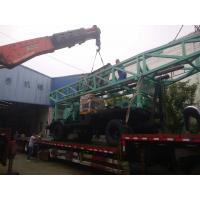 China Eight - Tyres Trailer Chassis Farm Water Well Drilling Rig With Tricon Bit on sale