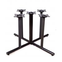 Cheap 2201 Metal Tube Table Legs Black Wrincle Powder Coating Cast Iron Table Base for sale
