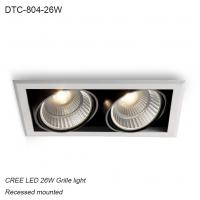 Cheap Indoor IP40 recessed mounted adjustable angle 26W COB LED down light for home decoration for sale