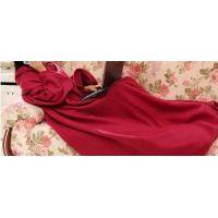 Cheap Soft Polyester Coral Fleece Blanket , Mixed Colours Blanket With Sleeve wholesale