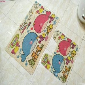 China Bathroom Coir Foot Mat Cartoon Printed Design Eco - Friendly Feature on sale