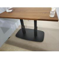 Buy cheap Professional Square Dining Table Legs Sandy Texture Metal Table base Custom Made from wholesalers