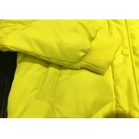 China 100% Polyester Yellow Young Hooded Bomber Jacket Warm Coats For Winter on sale