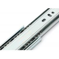 China 45mm Width Soft Close 3 Folds Side Mount Ball Bearing Drawer Slides on sale