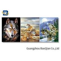 Cheap 3D Effect Lenticular Flip Wolf / Eagle Pattern PP / PET Material Wall Poster for sale