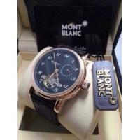 Cheap mens watch, Mont Blanc watch, leather strap for sale