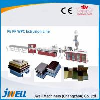 Cheap Jwell fully automatic WPC plastic extrusion line for PE&PP for sale