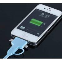 Cheap TPE Noodle 4 In 1 Flat Micro USB Charger Cable For IPhone 5 / Samsung wholesale