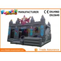 Cheap 0.55mm PVC tarpaulin Gray  Kids inflatable castle wizards castle inflatable Bounce House for sale