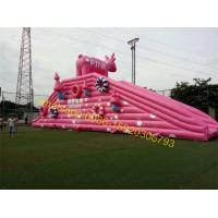 Cheap pink pig slide inflatable for sale