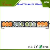 """Cheap Single row 21.9"""" 120w white/amber led light bar 10w per CREE LED for offroad accessory for sale"""
