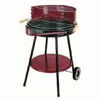 Cheap Round BBQ Grill with trolley, simple grill BBQ, simple round charcoal grill for sale