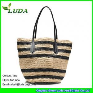 Cheap hand crochet paper straw bag summer handbags for sale