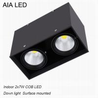 Cheap Inside IP40 square surface mounted 2x7W COB LED downlight for shopping mall for sale