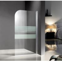 Cheap Bathing 1400x800mm Glass Shower Enclosures With Serigraphy Painted for sale