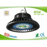 Cheap IP65 80w Led High Bay Lights Commercial Led High Bay Lighting Philips 3030 SMD for sale