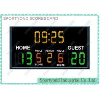 Cheap Electronic Basketball Scoreboards For College / High School WIth Team Name and Time Display for sale