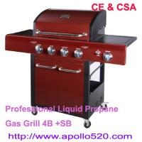 China Powder Coated Gas Barbecue Freestanding Grills on sale