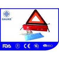 3 In 1 Car First Aid Kits Emergency Bag With Warning Triangle / Safety Vest