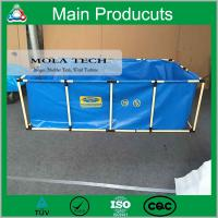 Cheap China Supplier PVC Steel Structure Folding Fish Tank with Fish Farm for sale