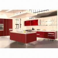 Cheap Integral Kitchen Cabinet, Made of Solid Wood or MDF Board, Customized Sizes Welcomed for sale