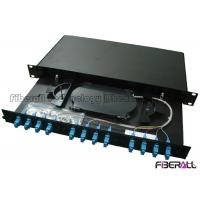 """China 1U Height 19"""" Width Optical Fiber Patch Panel With 12 SC Adapter And Pigtail on sale"""