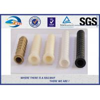 Quality Black Plastic And Rubber Part Railway HDPE And PA66 Dowel For Screw wholesale