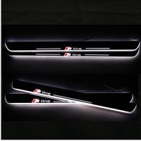 China LED Moving Door Scuff sill for AUDI A3 A4L A5 A1 A6L car pedals LED door sill plate light on sale