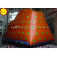 Cheap Yellow Gigantic Inflatable Water Park / Inflatable Climbing Iceberg Floating Water Game for sale