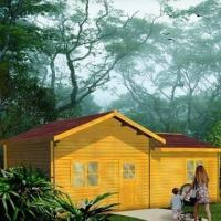 China Prefabricated Timber House with 15mm Thickness Panels and Asphalt Sheet Roof on sale