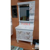 Cheap Water Transfer Printing PVC  Bathroom Cabinet / Mirrored Bathroom Cabinet With Legs for sale