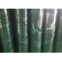 Cheap Green Hole PVC Wire Mesh Fence Panels Spot Welding For Highway / Warehouse for sale