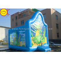 Cheap PVC Kids Inflatable Jumper Commercial Dinasaur Inflatable Bouncer Cute Blue Dragon for sale