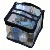 Cheap Multi Functional Cosmetic Storage Organizer Bags Square Shaped With Clear PVC Vinyl Material for sale