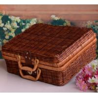 Cheap Outdoor Natural Rattan Picnic Basket for sale