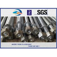 Quality GB  Standard Hot Dip Zinc Railway HEX Bolt With 24x3x1100mm 45# Material wholesale