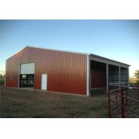 Cheap Fire Proof Pre Built Steel Frame Garage Kits , Metal Shelters Garages Anti Seismic for sale