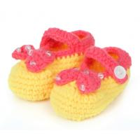 China handmade infant crochet booties baby 3D wholesale sock on sale