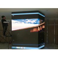 Cheap Pyramid LED Sphere Display , LED Video Screen Flexible Module Splicing Soft Board for sale
